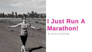 I just ran a marathon!