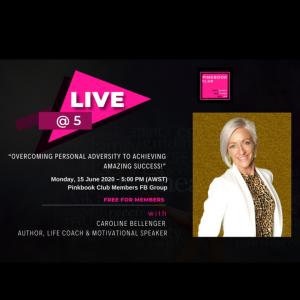 Live @ 5 with Caroline Bellenger – Author, Life Coach & Motivational Speaker