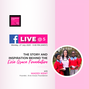 Live @ 5  with Maddi Kent (Founder, Evie Grace)