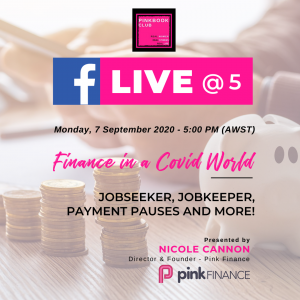 Live @ 5 Workshop with Pink Finance – Finance in a COVID world